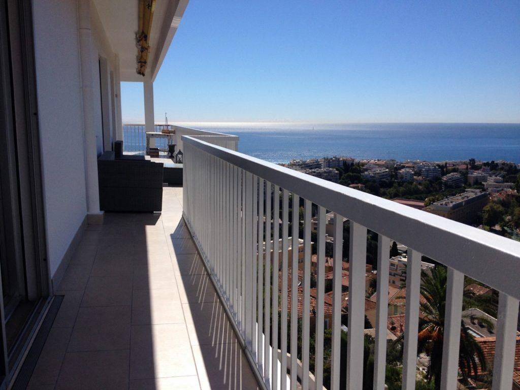 STS Côte d'Azur, nos réalisations, étanchéité balcon en résine + carrelage - Nice