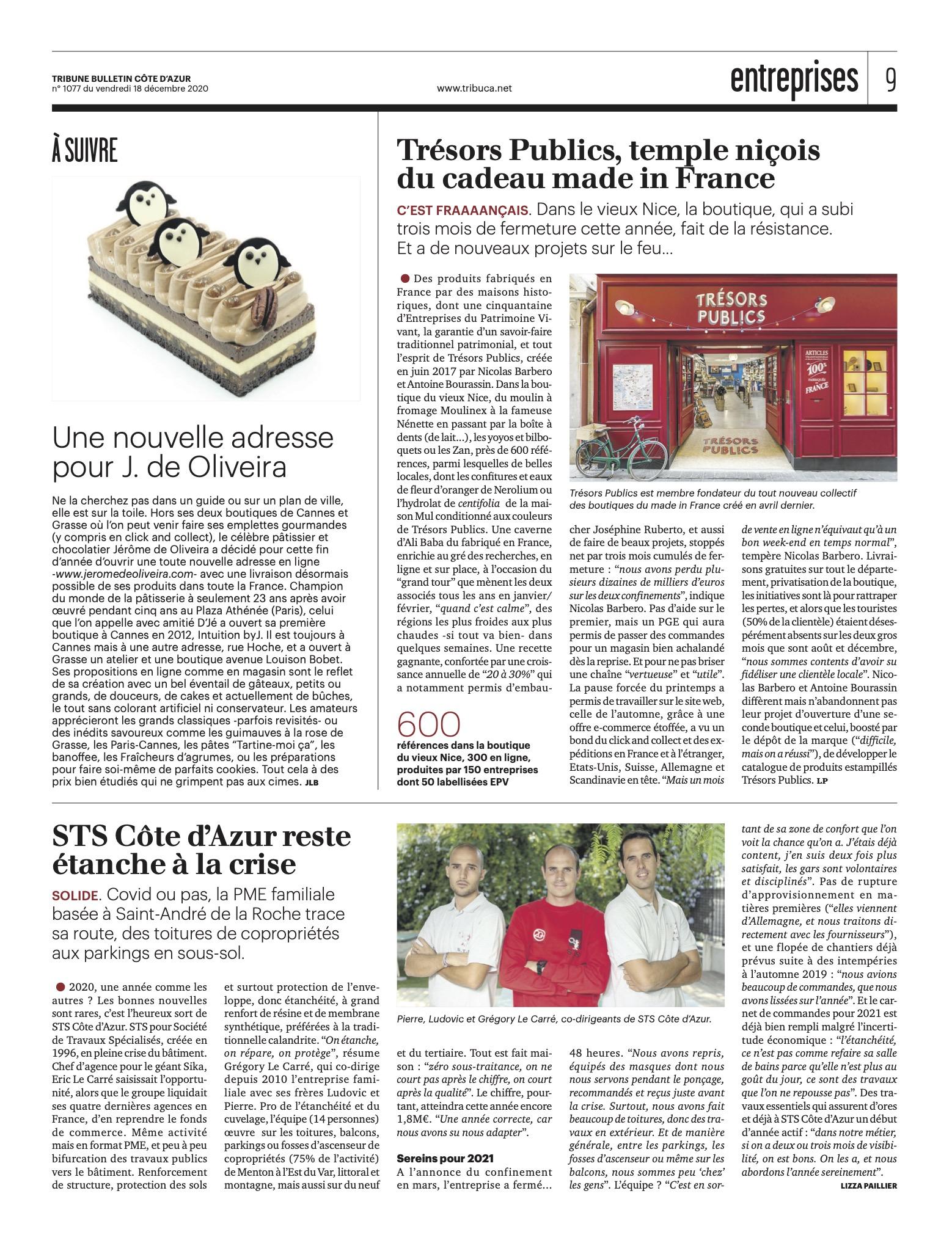 Bulletin la Tribune Cote d'azur